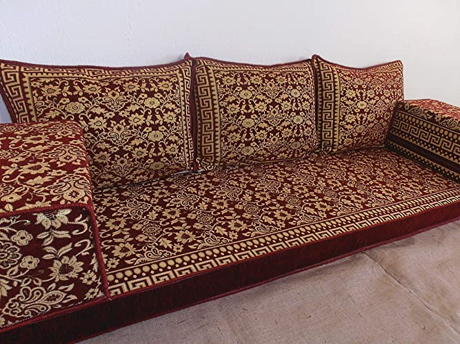 arabic floor seating,arabic sofa,arabic couch,floor seating sofa,oriental seating,bar decor,arabic furniture - MA 58
