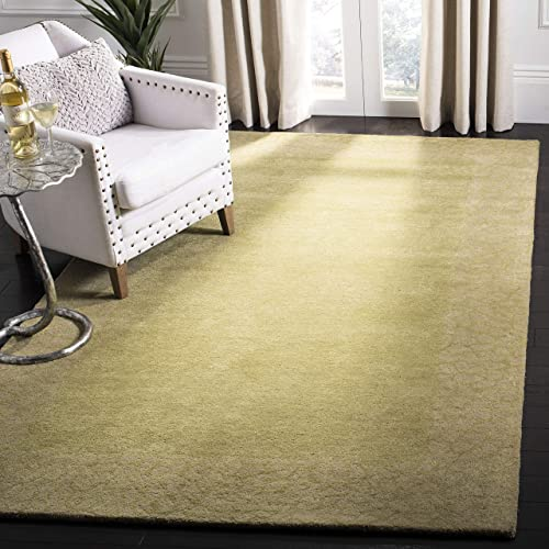 Safavieh Soho Collection SOH739C Handmade Green and Light Green Premium Wool Area Rug 5' x 8'