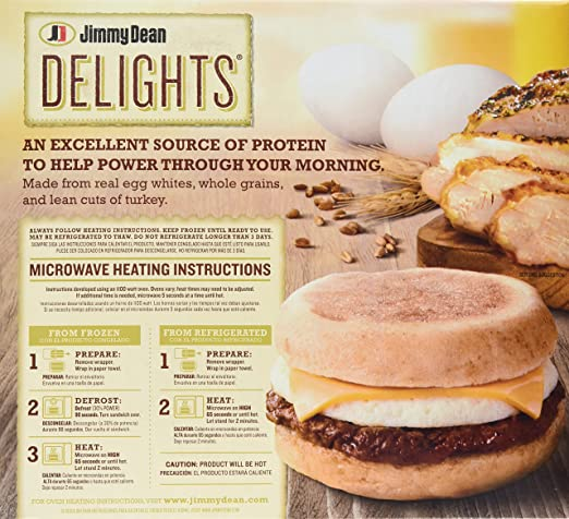 Jimmy Dean Delights English Muffin Whole Grain Turkey Sausage Egg