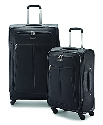 Amazon.com | Samsonite Lightweight Two-Piece Softside Spinner Set ...