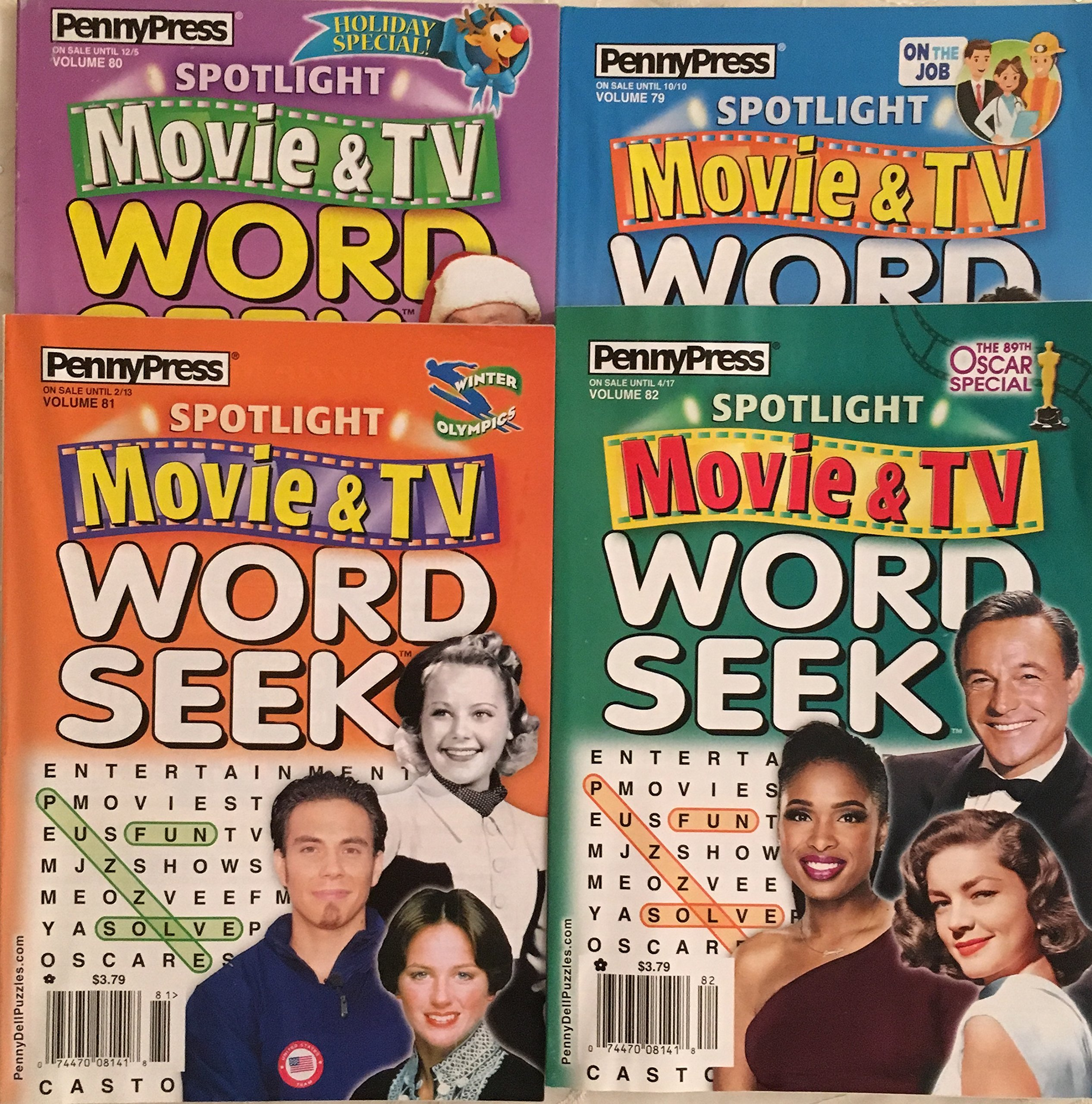Download Lot of (4) Penny Press Spotlight Movie & TV Word Seek Search Seeks Puzzles Books 2017 2018 PDF