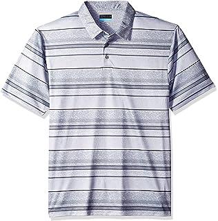 73848b78 Amazon.com: PGA TOUR Men's Airflux Stripe Polo Shirt, Azalea Pink ...