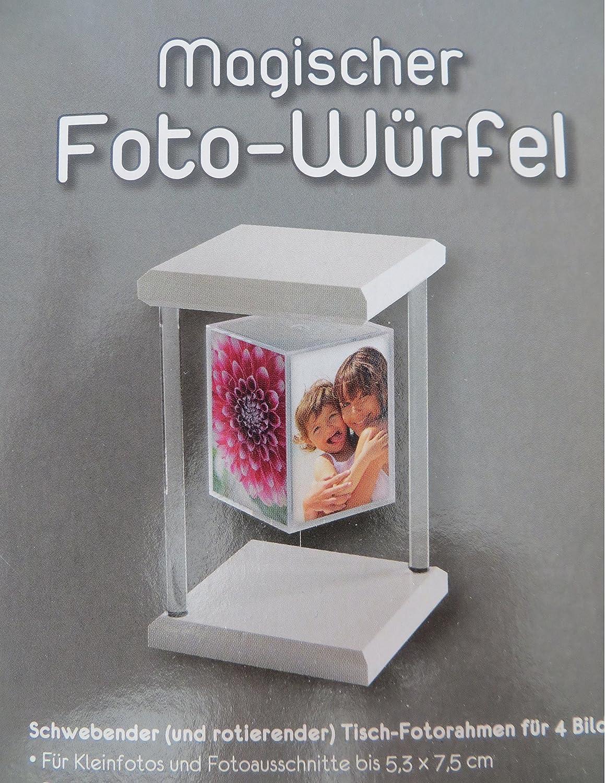 Amazon.de: Magischer Fotowürfel, weiß, für 4 Fotos 5x7cm