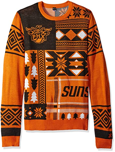 295cf686ec7 Amazon.com : Phoenix Suns Patches Ugly Crew Neck Sweater Double Extra Large  : Sports & Outdoors
