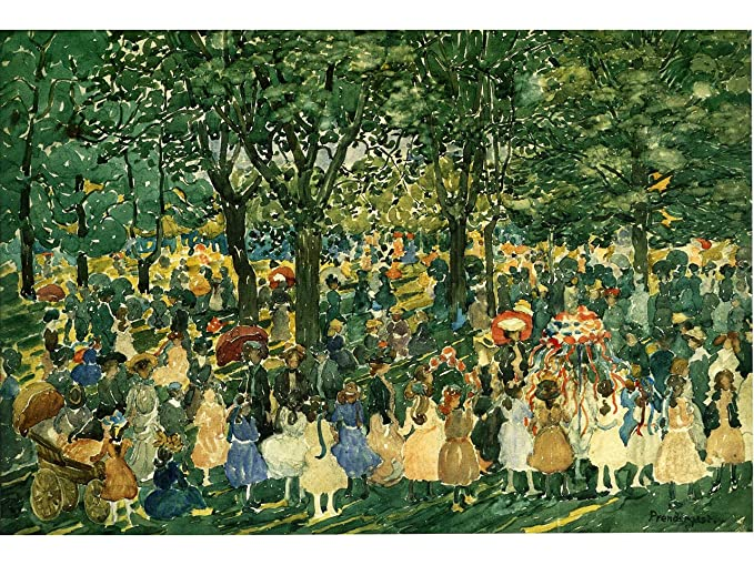 Amazon.com: May Day, Central Park by Maurice Prendergast: Posters ...