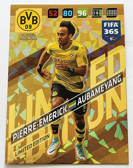 Panini Adrenalyn XL FIFA 365 2018 Aubameyang Limited Edition: Amazon.es: Deportes y aire libre