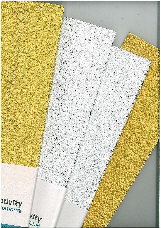 Art /& Craft YELLOW CREPE PAPER PACK 1.5m x 50cm x 2 Packs 2 x NEW YELLOW