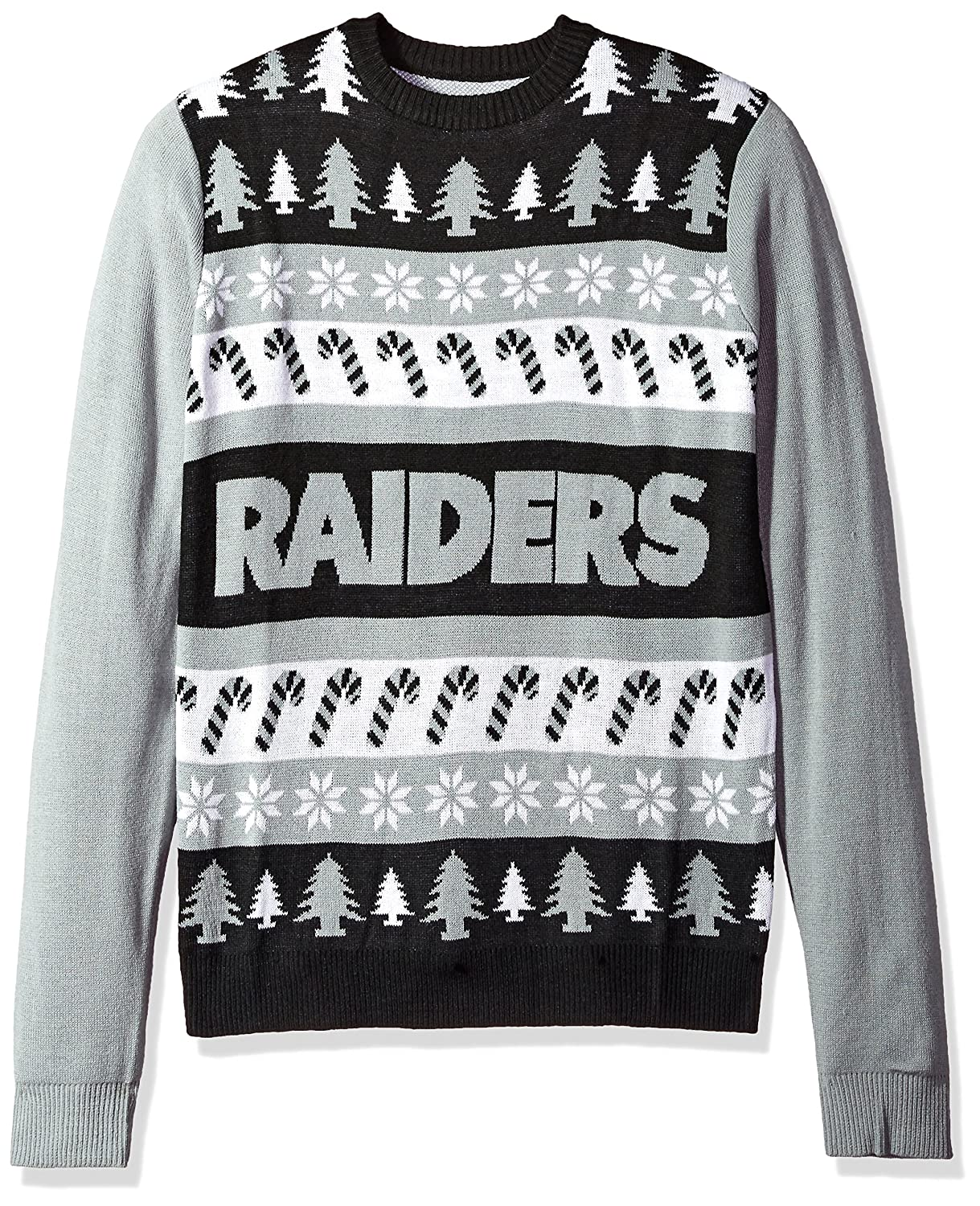Amazon.com: FOCO Oakland Raiders One Too Many Ugly Sweater Extra ...