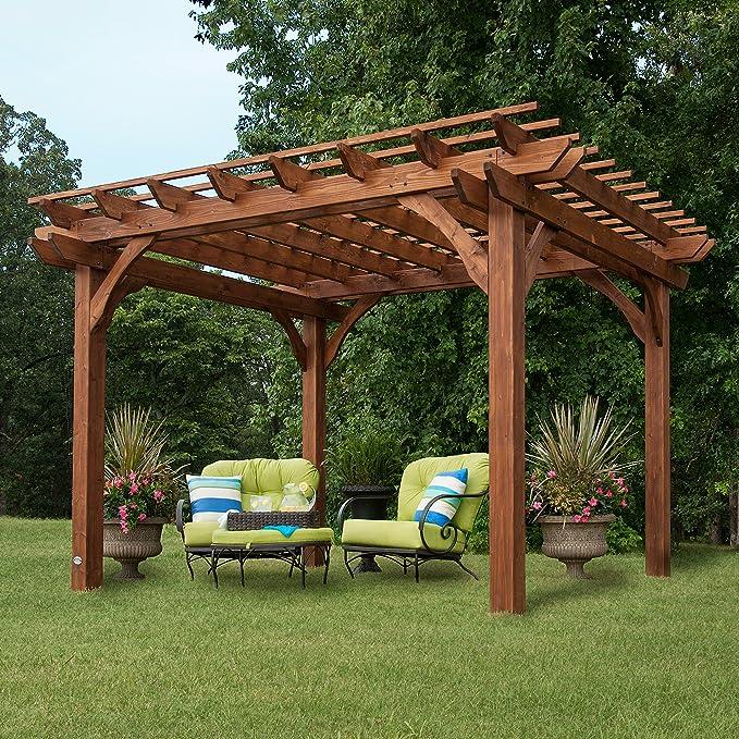Backyard descubrimiento Cedar Pergola 12 x 10 montaje incluido