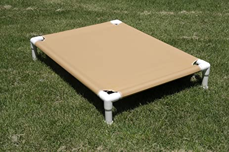 outdoor raised dog bed canvas large bed 38x50x10 buckskin tan