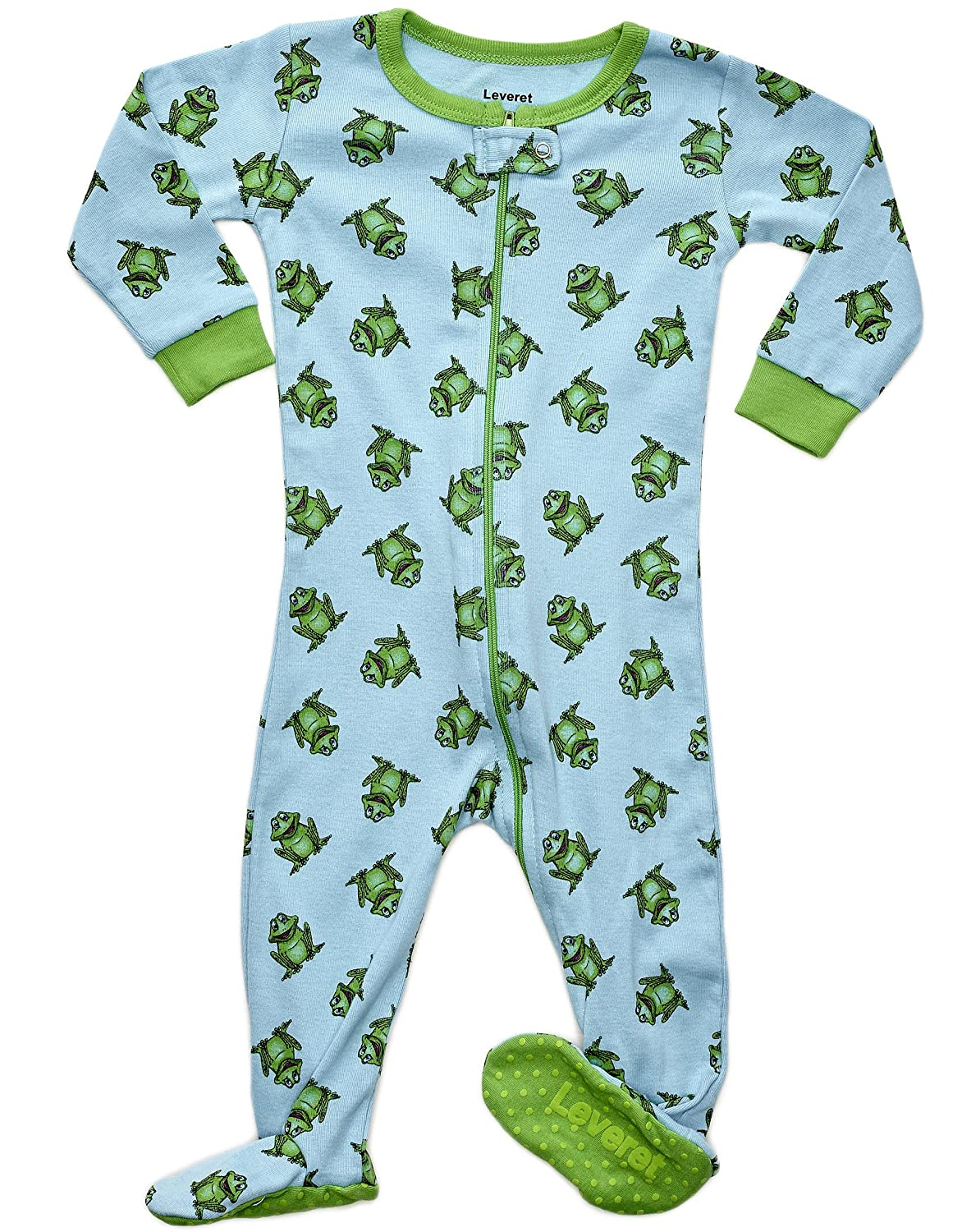 adf8f4063 Leveret Baby Boys Footed Sleeper Pajama 100% Cotton (Size 6M-5 Years ...