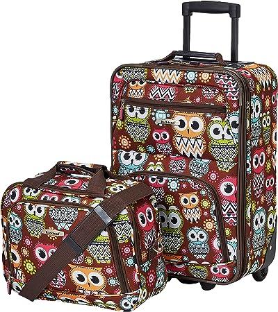 Rockland Owl Luggage Set