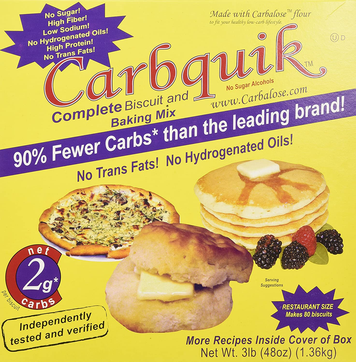 Carbquik Baking Mix, 3 lb (48 oz) A1b2a3dKLnL