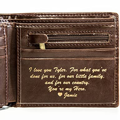 888d454eed1b Personalized Mens Wallet - Leather Wallet