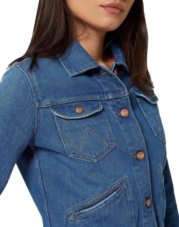 Wrangler Cropped Jacket, Chaqueta de Mezclilla para Mujer: Amazon.es: Ropa y accesorios