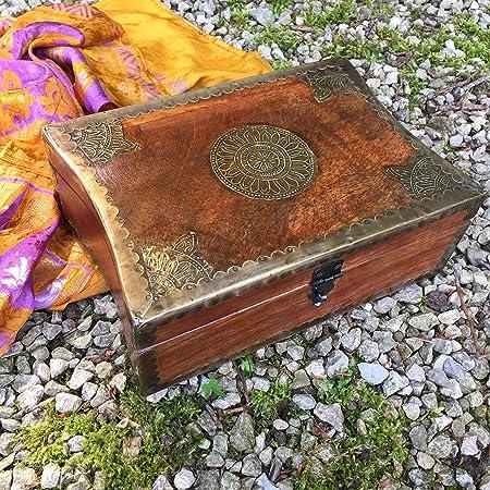 Antikas - joyero oriental de madera - caja para guardar joyas adorno de mujer - joyero mujer madera: Amazon.es: Hogar
