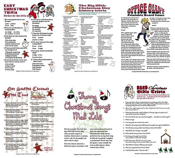 Christmas Trivia Printable.Printable Christmas Party Games Pack Download