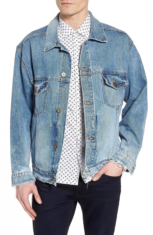 [ハドソンジーンズ] メンズ ジャケットブルゾン Hudson Jeans Denim Trucker Jacket [並行輸入品] B07BMT65GJ Large