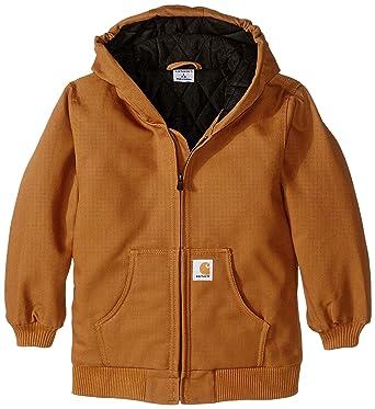 Amazon.com: Carhartt Big Boys' Active Duck Jacket, Carhartt Brown ...