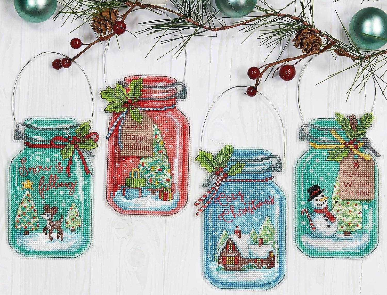 Dimensions Maße Näharbeiten Weihnachten Ornament Set ...