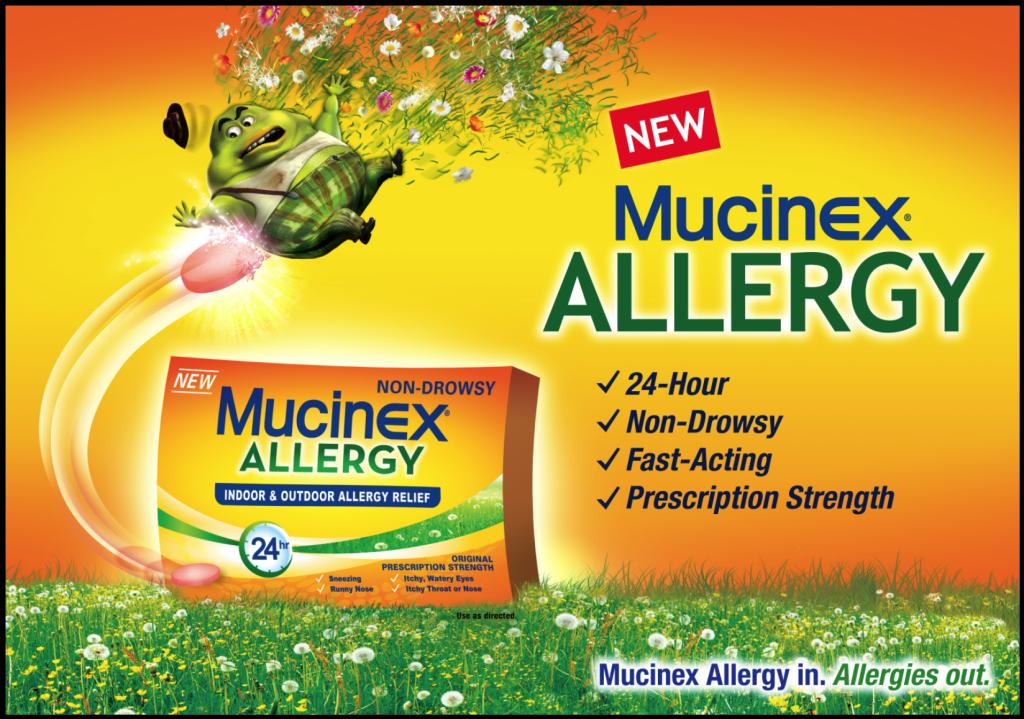 Mucinex Allergy 24 Hour Indoor Outdoor Allergy Relief Tablets 180 Mg Fexofenadine 10 Count