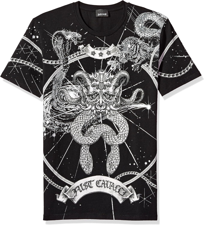 Just Cavalli Mens Graphic T-Shirt