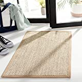 Safavieh Natural Fiber Collection NF143B Marble and Linen Sisal Area Rug (2' x 3')