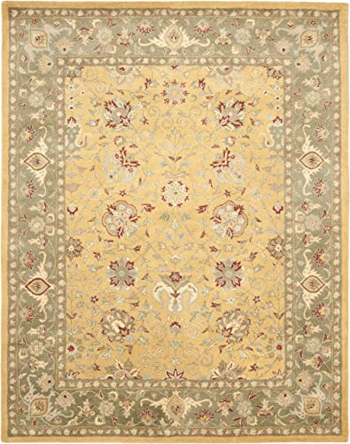 Safavieh Antiquities Collection AT21C Handmade Traditional Oriental Gold Wool Area Rug 7'6″ x 9'6″