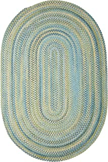 product image for Colonial Mills Rustica Braided Rug, 3 by 5', Whipple Blue