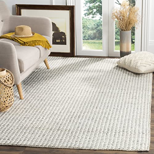 Safavieh Natura Collection NAT311A Hand-Woven Ivory and Silver Area Rug 9' x 12'