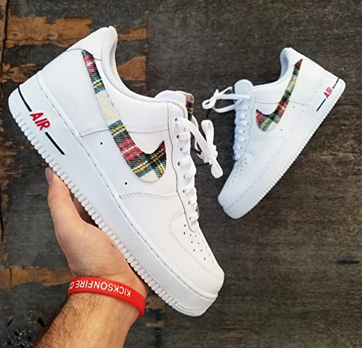 78bc6d325f Amazon.com  Nike Air Force 1 AF1 Custom Flannel Edition by opc kicks   Handmade