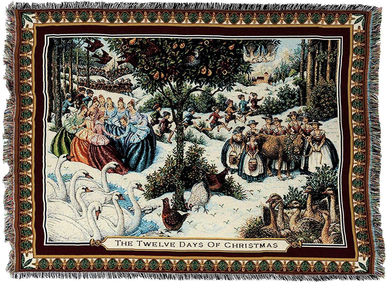 Pure Country WeaversTwelve Days of Christmas Blanket Tapestry Throw Pure Country Inc. 2404-T