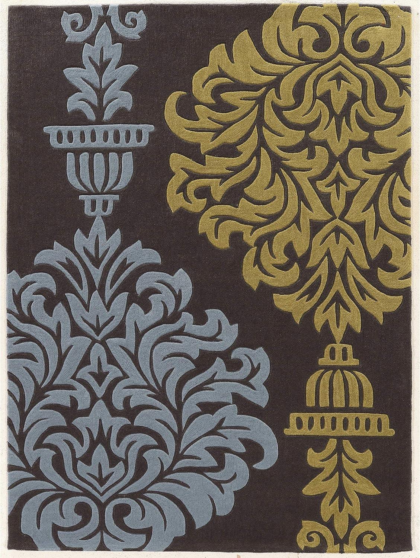 Linon Trio Medalion Natural Fiber Rugs 1.10 x 2.10 Gray