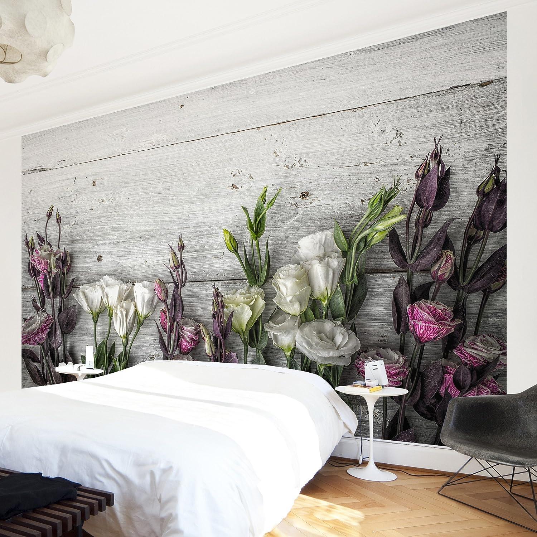 Bilderwelten, hochwertige Fototapete, Rosendesign, XXL-Wandbild Schlafzimmer, im Querformat, Wandschmuck in 3D-Optik, für Schlafzimmer, XXL-Wandbild Wohnzimmer, Vliestapete, Maße (H x B) 320 cm x 480 cm, Motiv  Pastellfarbene Rosen c78dc0