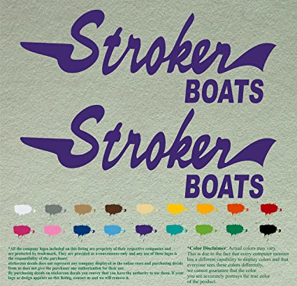 Amazon com: Pair of Stroker Boats Decals Vinyl Stickers Boat