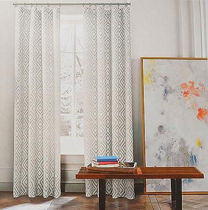 Super Amazon.com: Tommy Hilfiger Diamond Lake Pair of Curtains 2 window  VL54