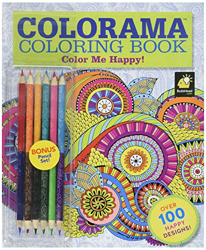 amazon com colorama coloring book color me happy