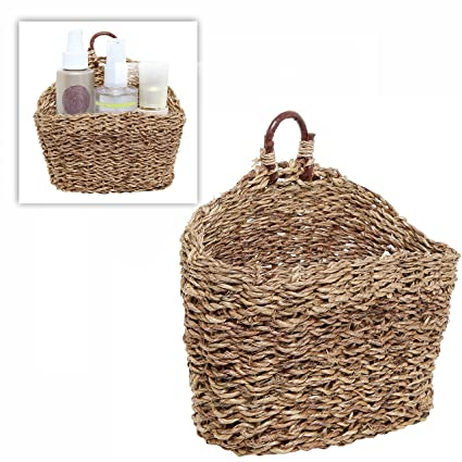Lovely 6.5 Inch Handmade Weave Hanging Storage Basket / Multipurpose Small Indoor  Display Bin, Brown