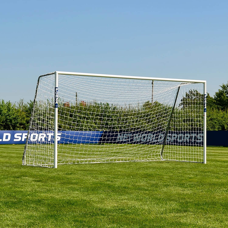 Forza alu60 Soccer Goal (12ft X 6 FT) (単一またはペア) (オプションターゲットシート) – Super StrongアルミSoccer Goal Perfect for Mini Soccer [ Net世界スポーツ] Single Goal & Target Sheet  B0191N145G