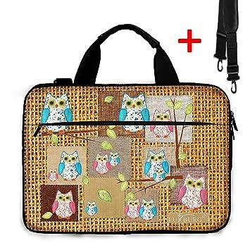 Luxburg® Design Bolso Funda blanda business para portátil ordenadores Laptop Notebook hasta 15.6 con correa