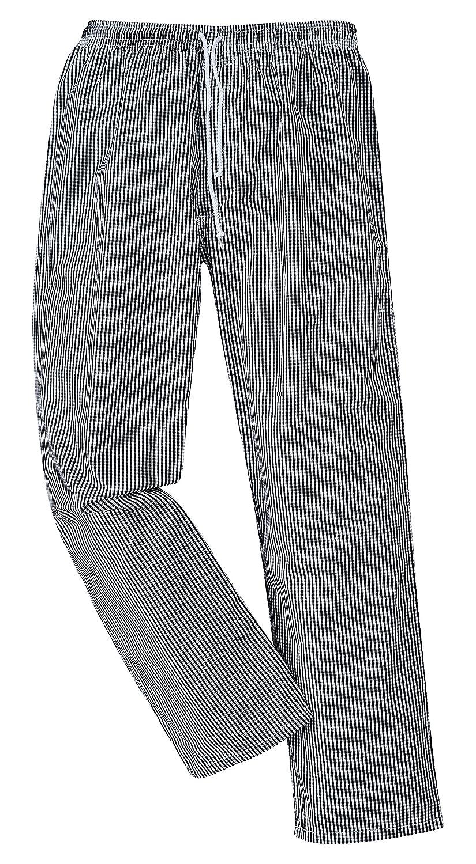 Bromley Chef pantaloni elastico in vita 100% cotone per schermo LCD Workwear Portwest