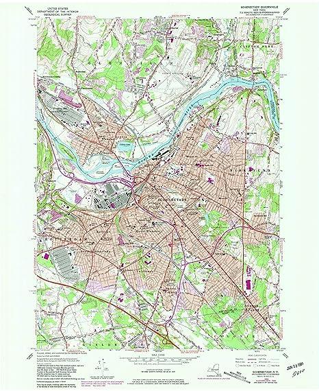 Schenectady New York Map.Amazon Com Yellowmaps Schenectady Ny Topo Map 1 24000 Scale 7 5