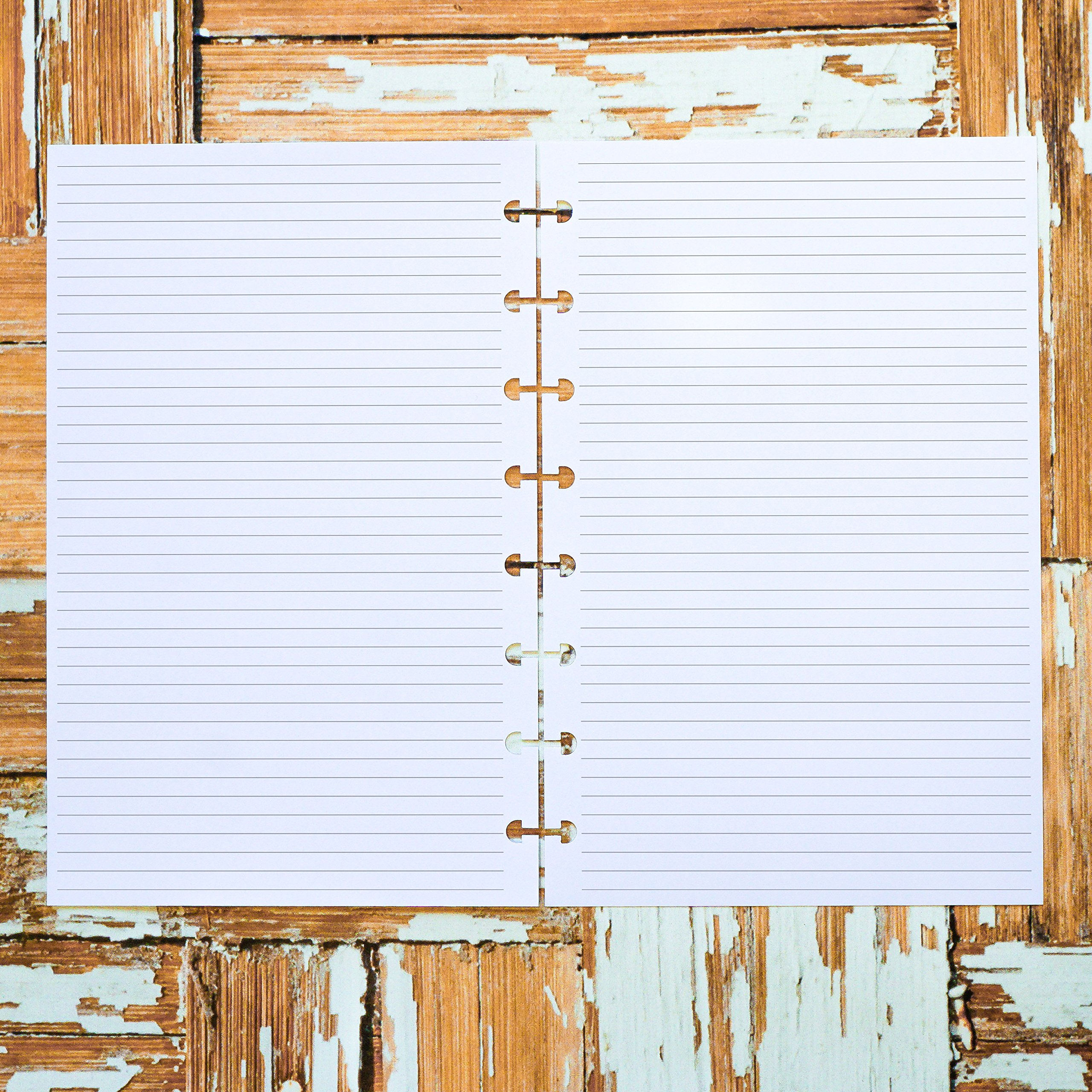 Lined planner inserts pages Disc-bound junior for use with Staples Arc TUL by Jane's Agenda