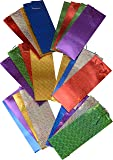 Wine gift bags; 2 packs of 12 bags hologram design assorted colors; 4 of each color; 24pc value pack