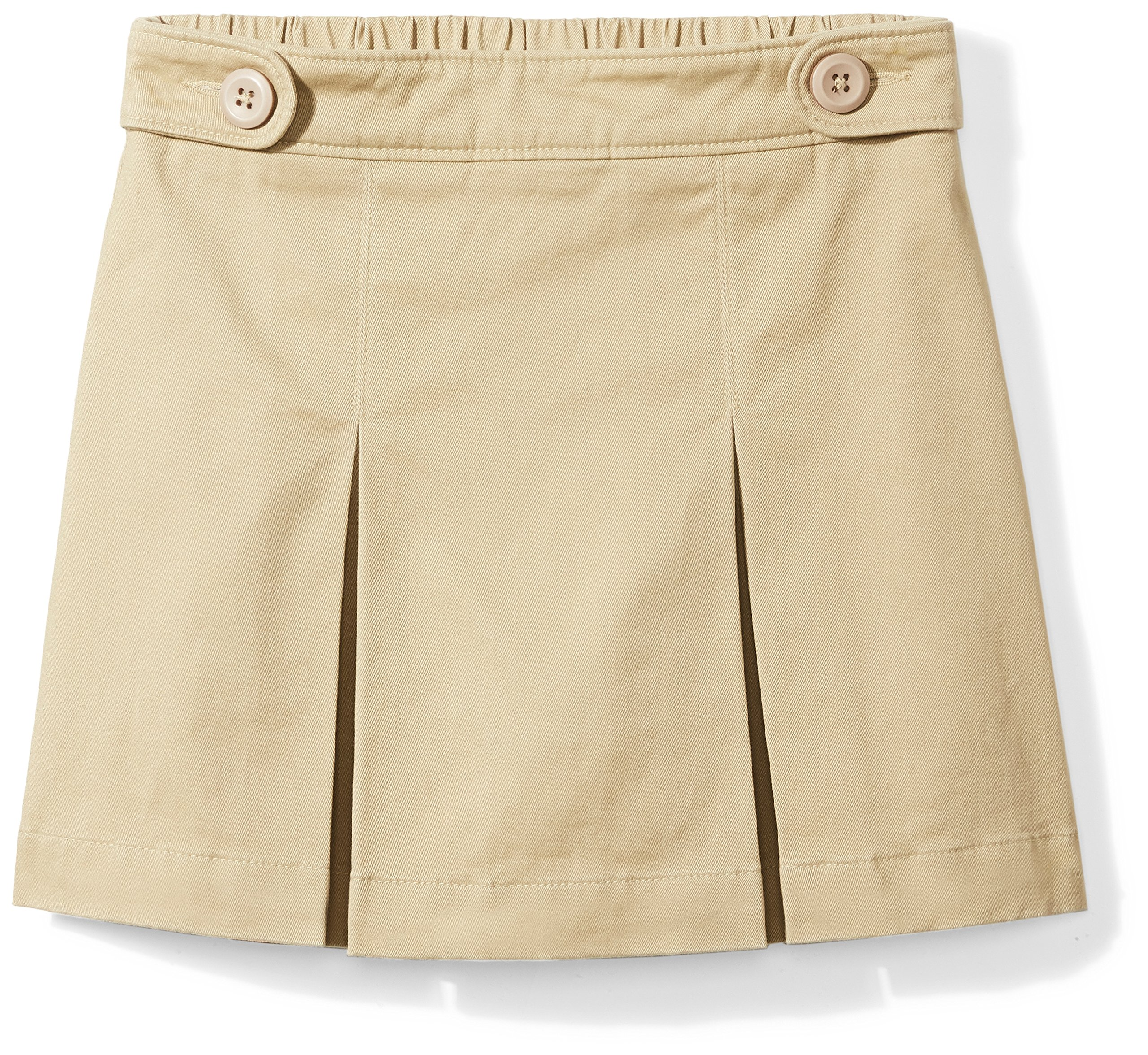 Amazon Essentials Girls' Uniform Skort, Khaki, S (6/7)