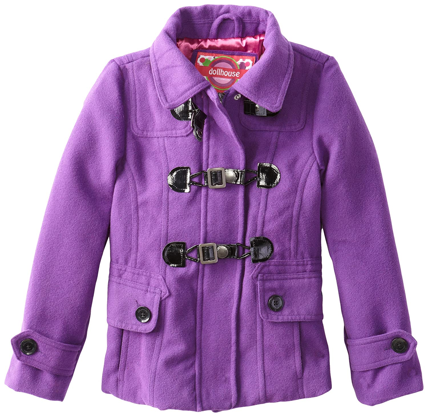 variety design search for latest lace up in Amazon.com: Dollhouse Big Girls' Wool Peacoat with Faux Fur ...