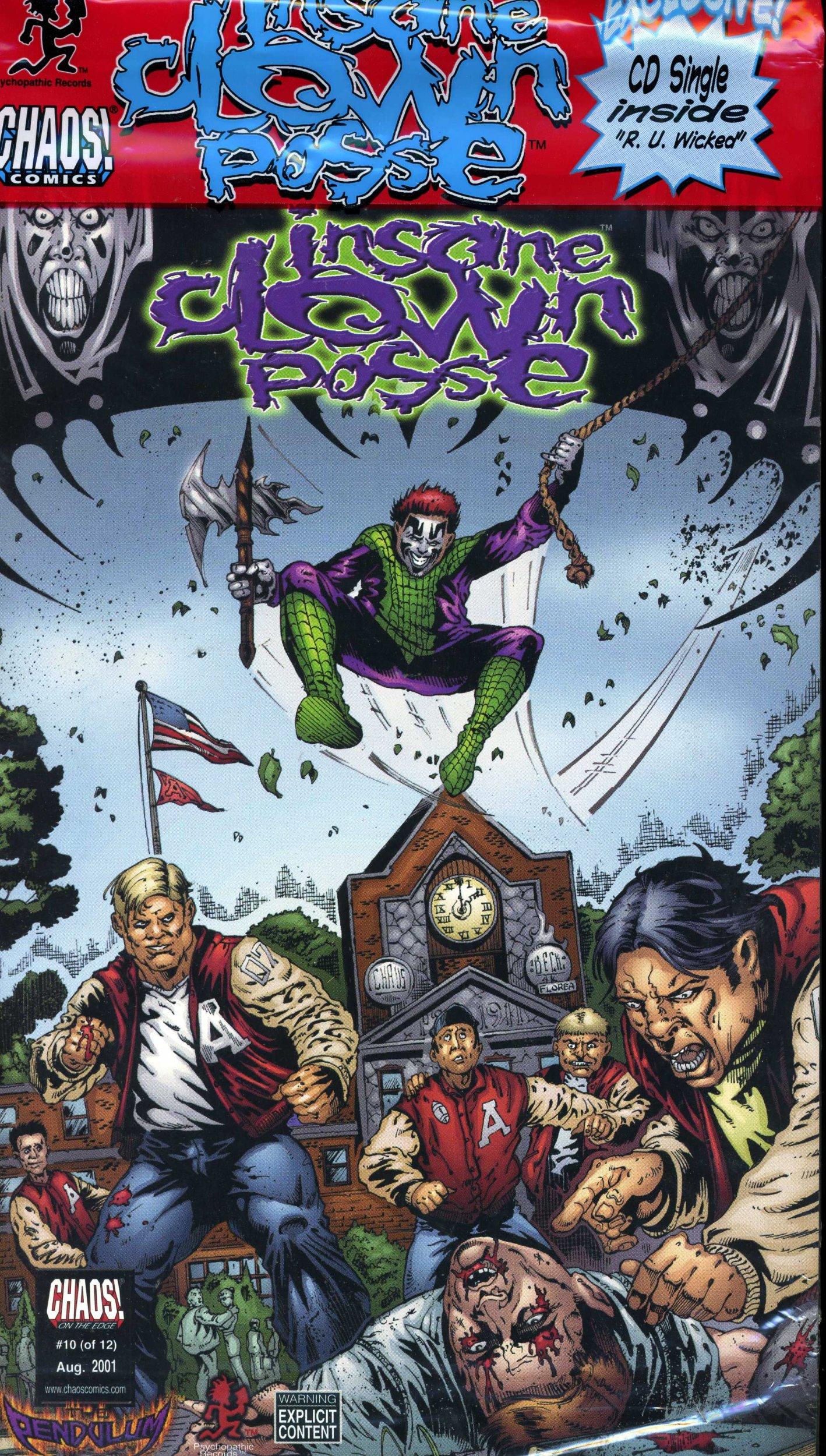 insane clown posse the pendulum 10 comic cd new icp jesse mccann