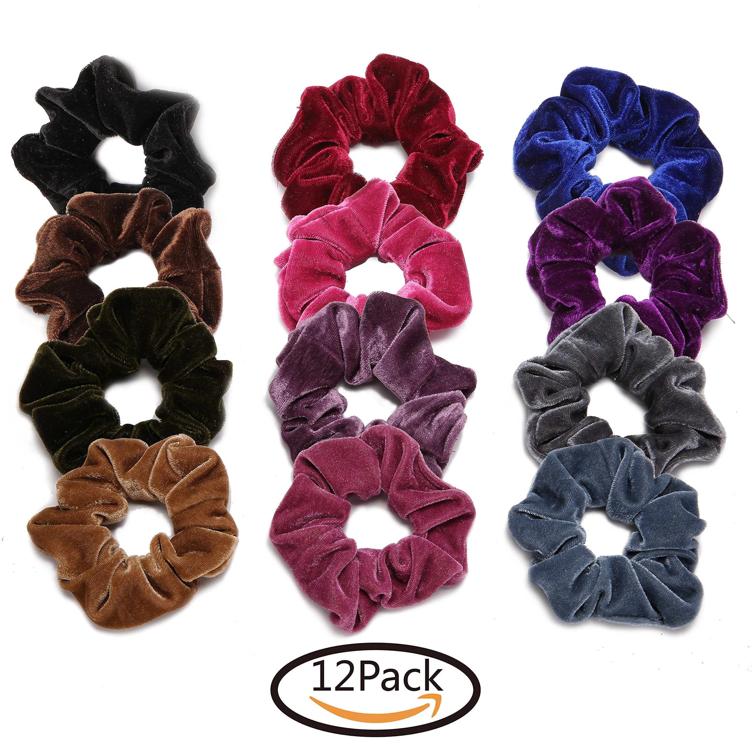 Amazon Com Bbto 10 Pieces Satin Hair Scrunchies Elastic