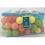 AAJ 100palline da gioco, multicolore (in mesh Carry Bag con manico)