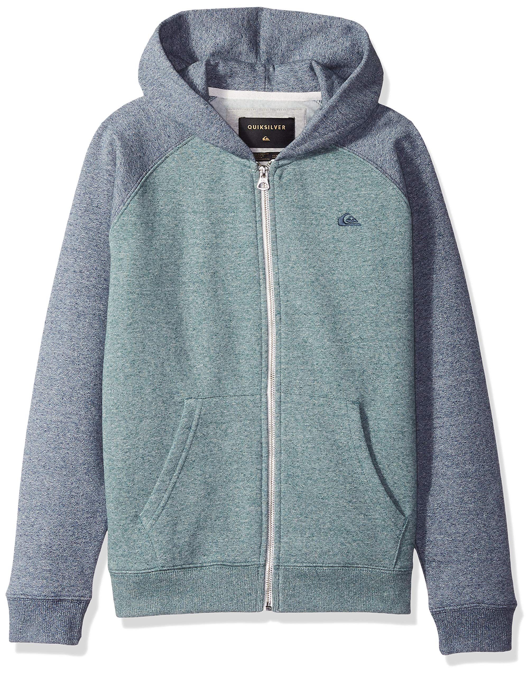 Quiksilver Big Boys' Everyday Youth Zip up Jacket, Tapestry Heather, L/14